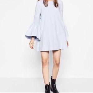 Zara Trafaluc Romper Dress Bell Sleeves Women's S